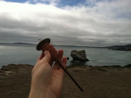 Silk spinning, Arch Rock, bear valley trail