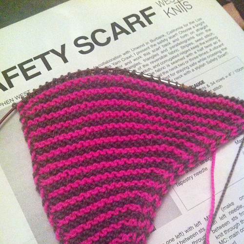 New #knitting project! Safety Scarf by @westknits yarn from @purlsoho and #litlaprjónabúðin