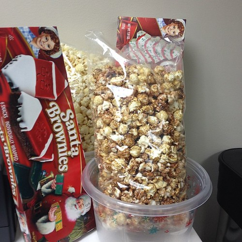 Day 12: kettle corn & snack cakes.