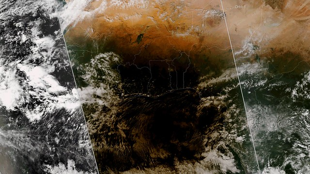 Satellite Captures Eclipse Passing Over Africa