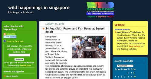 wild happenings in singapore: 24 Aug (Sat): Prawn and Fish Demo at Sungei Buloh