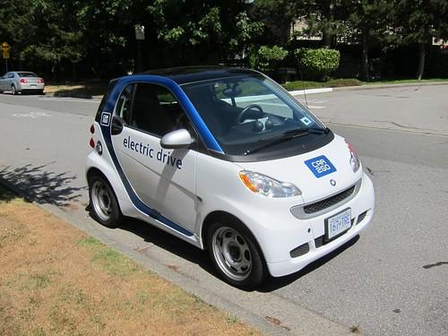 Smart EV front near