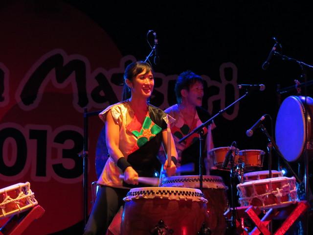 Joji Hirota London taiko Drummers