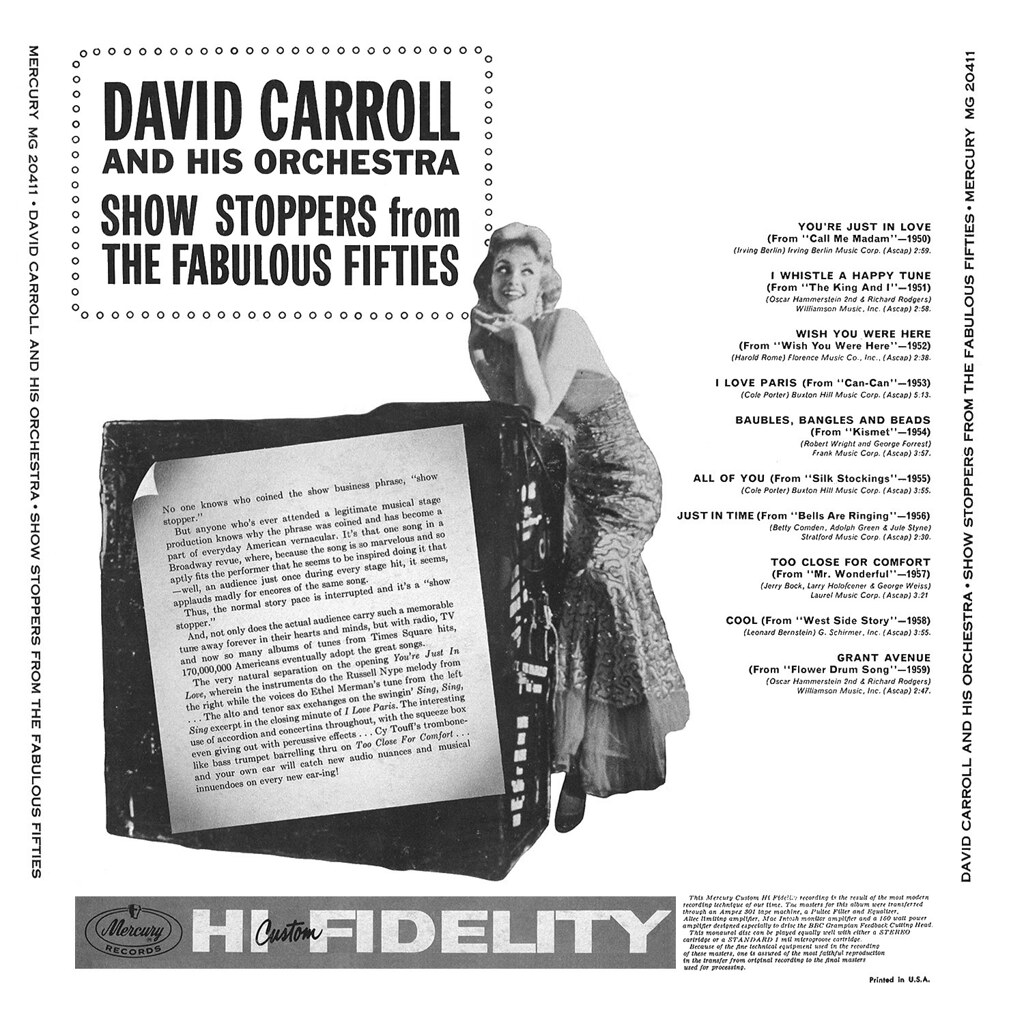David Carroll - Show Stoppers From The Fabulous Fifties b
