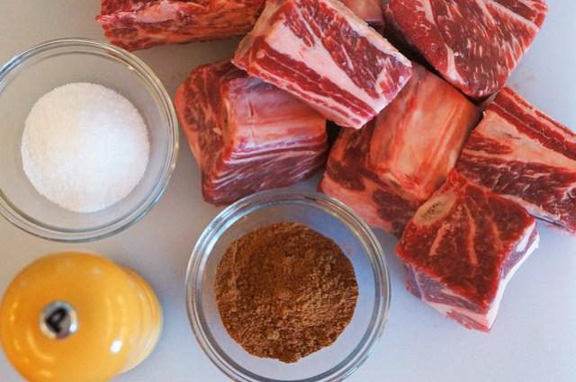 short ribs and seasonings