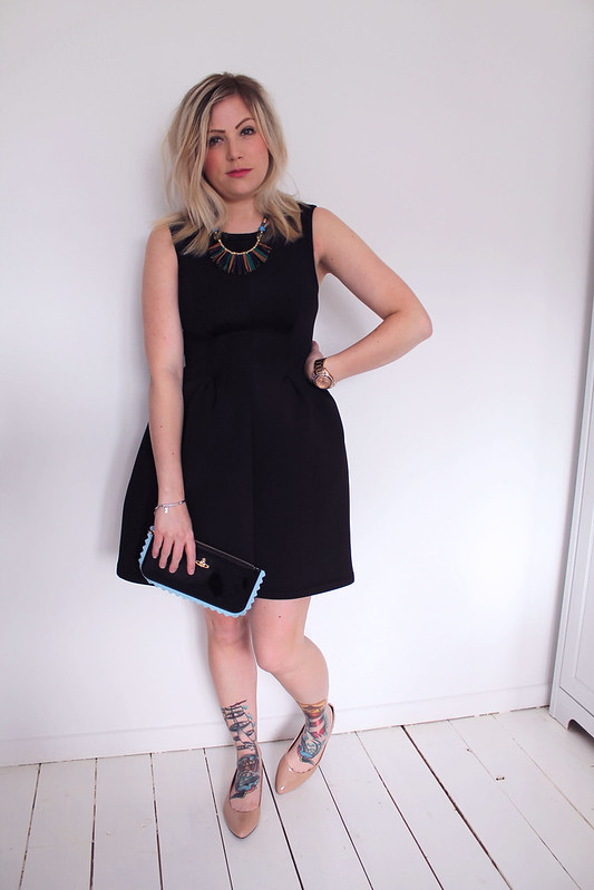 Duo Boots and black dress