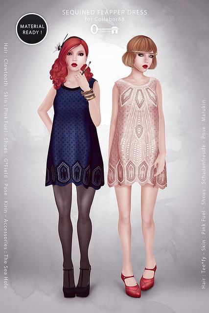 Sequined Flapper Dress