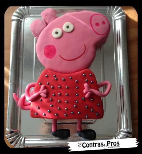 tarta Peppa Pig fondant paso a paso