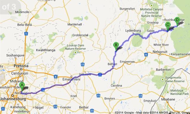 SA2013 Day 1 Selfdriving Johannesburg to Kruger 45 hours