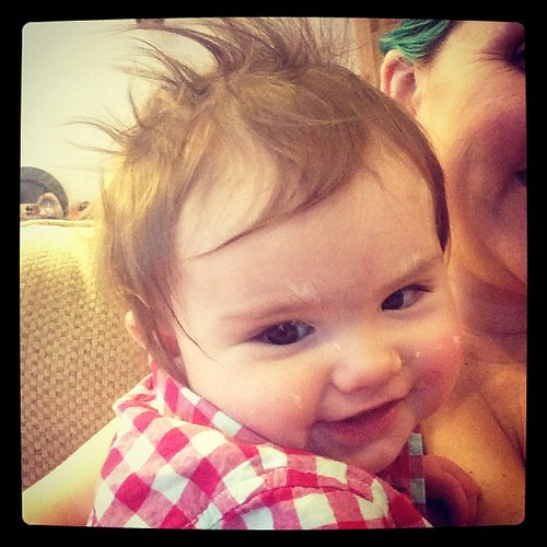 Awesome hair day. #babysmiles