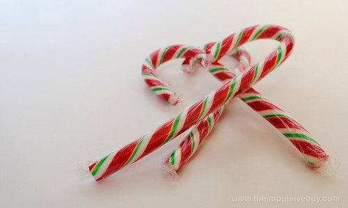 J&D's Foods Sriracha Candy Canes Closeup 2