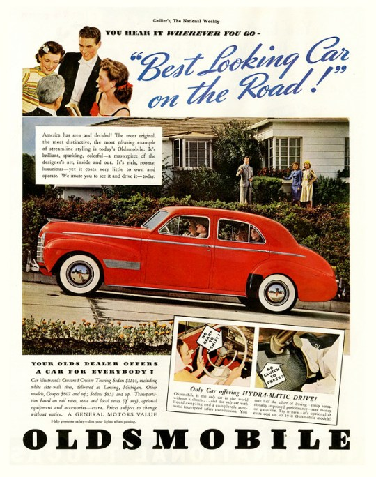 1940 Oldsmobile Custom 8 Cruiser Touring Sedan - published in Collier's