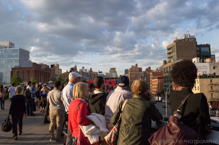 People on the High Line in New York