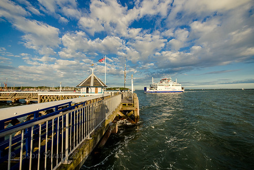 The Wight Sky - Wightlink Ferry approaching Yarmouth