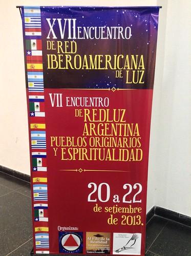 Un cartel del Encuentro de Red Luz, 2013, en Paraná.