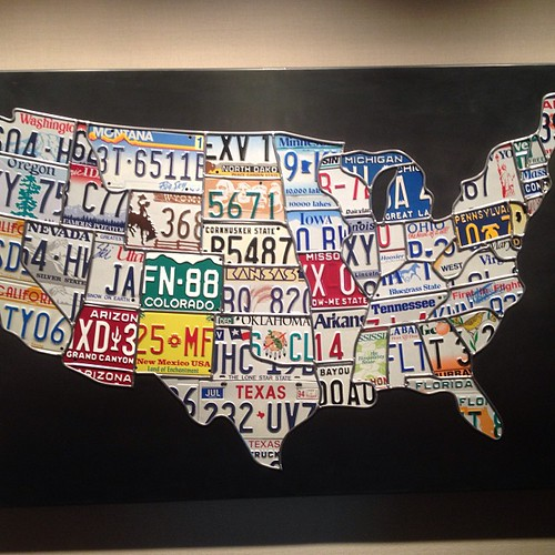 USA in license plates