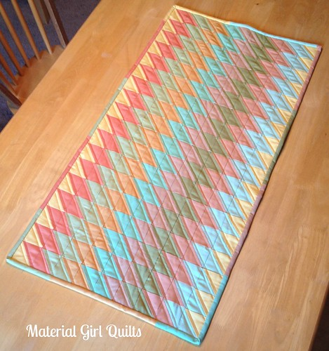 Slanted Diamonds Table Runner
