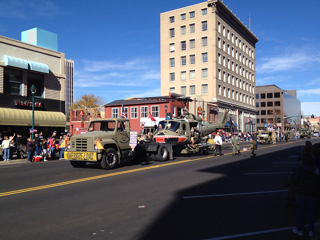 Helicopter In Veteran's Day Parade