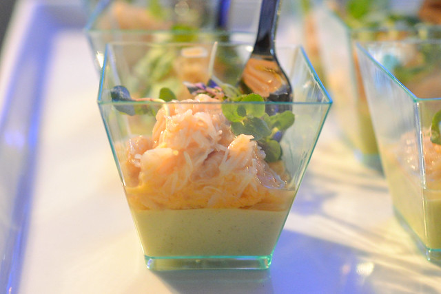 Redbird dungeness crab salad with curried cauliflower and micro shiso
