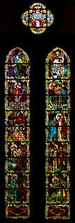 Notre Dame De La Treille, Lille, France.  Stained glass.