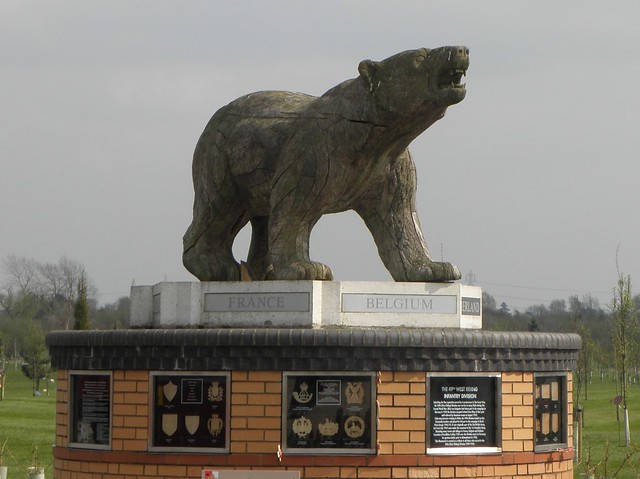 The Polar Bear Memorial at the National Memorial Arboretum