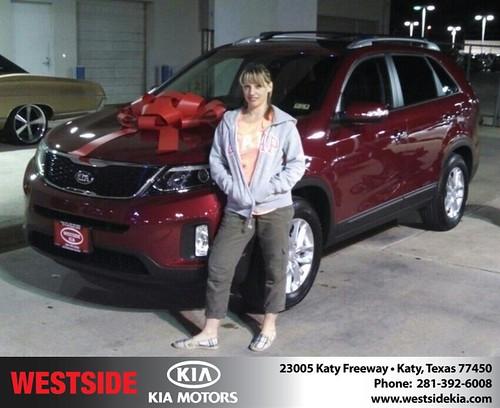 Thank you to Tisha Kelley on your new 2014 #Kia #Sorento from Gil Guzman and everyone at Westside Kia! #NewCarSmell by Westside KIA