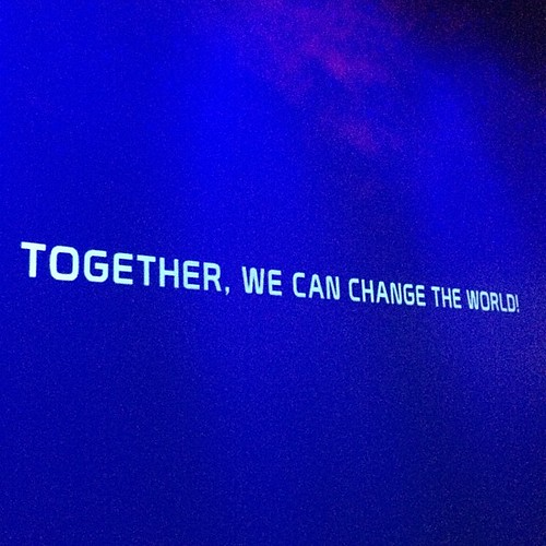 Together, We can change the world.