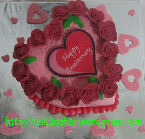 Kue Ulang Tahun Pernikahan Kue Anniversary Cake Heart