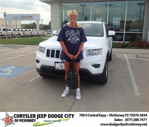Thank you to Amy Bragg on the 2014 Jeep Grand Cherokee from Brent Villarreal and everyone at Dodge City of McKinney! by Dodge City McKinney Texas