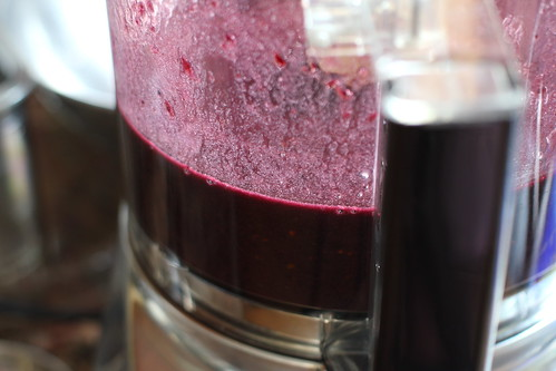 dark purple puree