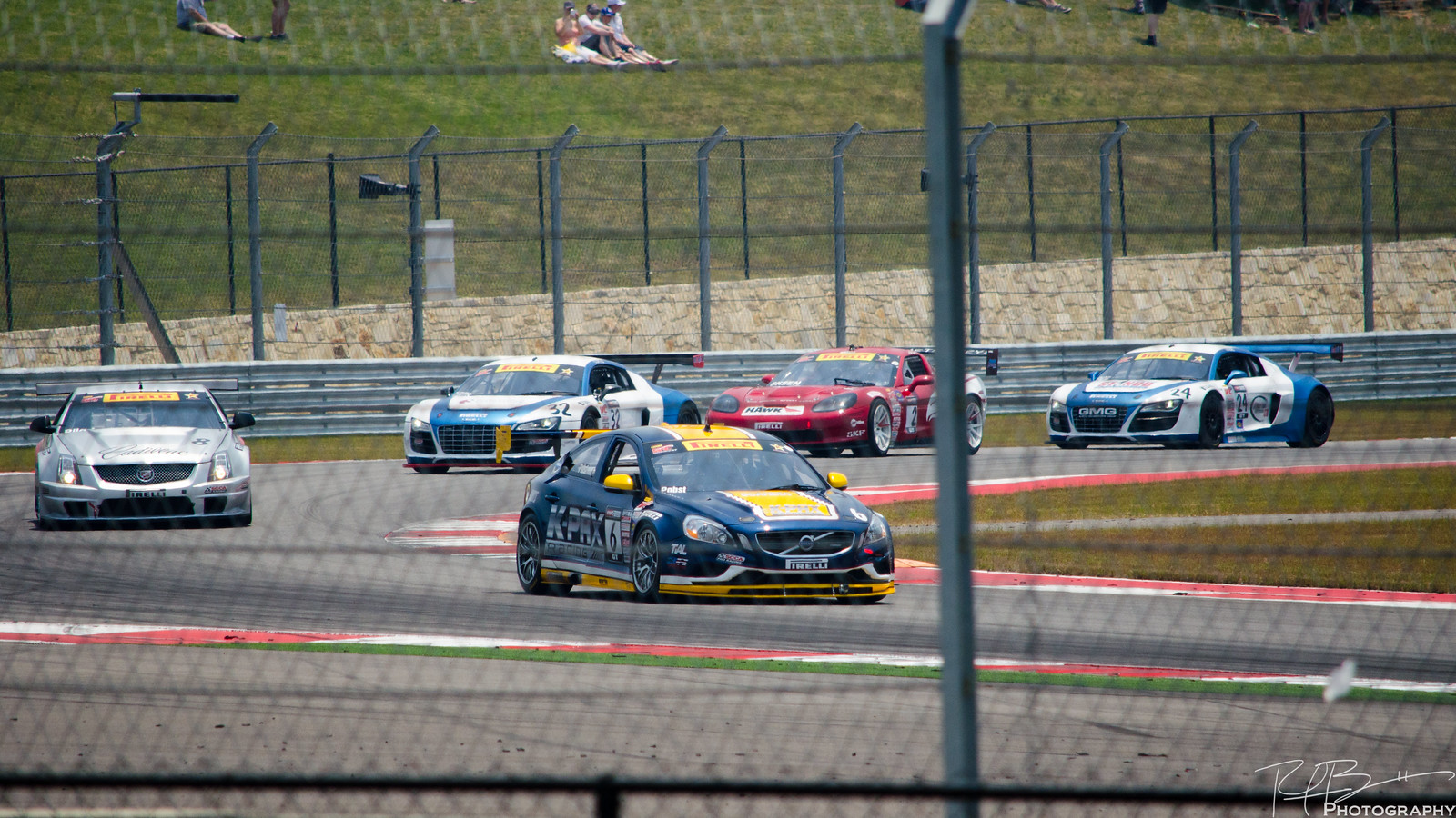 Pirelli World Challenge GT field at Turn 19