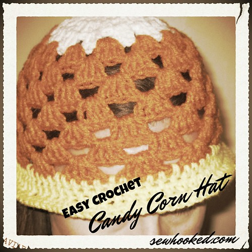 Candy Corn Crochet Hat
