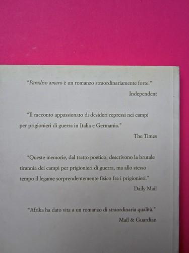 Paradiso amaro, di Tatamkhulu Afrika, Playground 2006. Progetto grafico: Giovanna Durì; impaginazione Cristina Cosi. Quarta di copertina (part.), 1