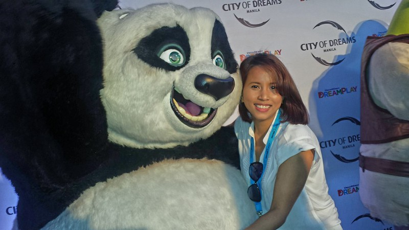 at City of Dream Manila DreamPlay with Po of Kung Fu Panda
