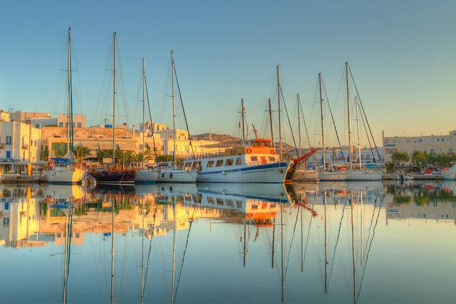 Boats in Milos Harbor
