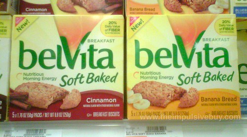 Nabisco belVita Soft Baked (Cinnamon and Banana Bread)