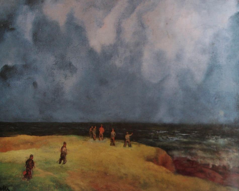 5. Galerna. Obra de Evaristo Valle, autor asturiano (1873-1951)