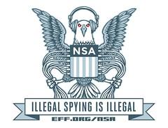 EFF NSA logo parody (sticker)