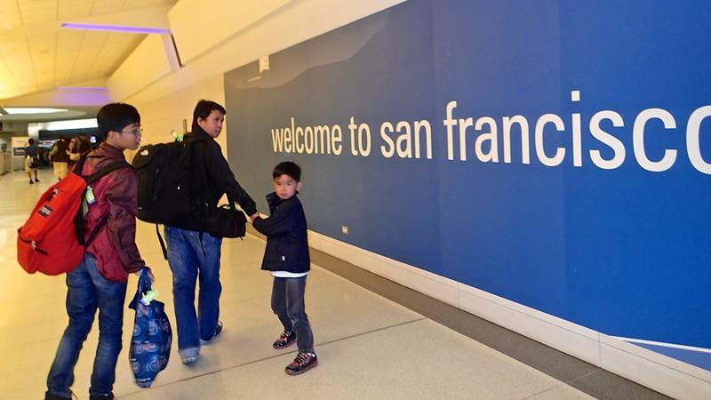 At San Francisco International Airport