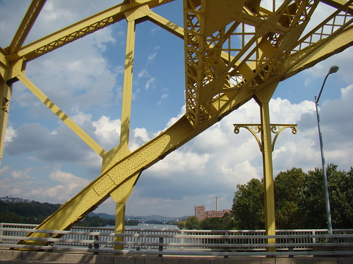 You can see the 31st St Bridge up river - Oct. 4th 2013