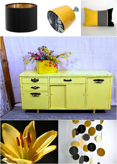 Gold Black Decor Collage