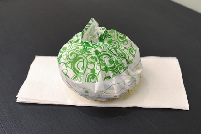 wrapped ramen burger