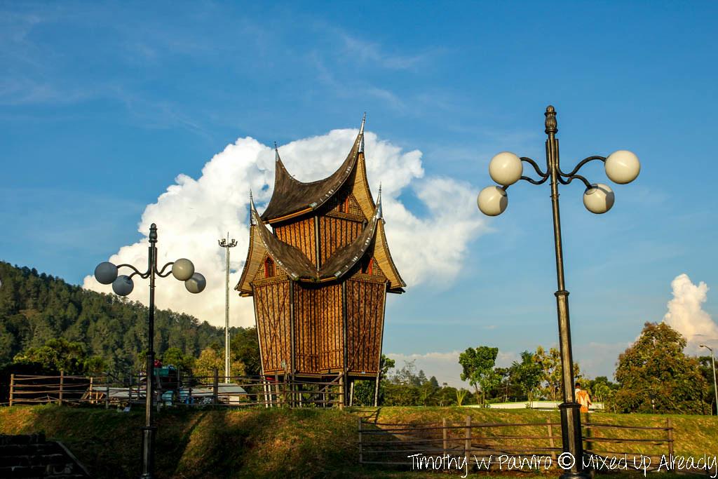 Indonesia - West Sumatra - Istana Pagaruyung (Pagaruyung Palace) - Storage place (Rangkiang)