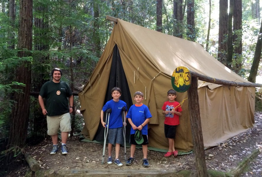 Daniel and Hudson at Camp