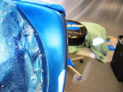 Airbrush Repair in Headlight Shell