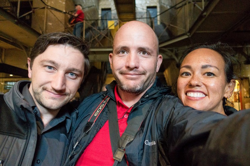 Troy, Matt, & Heather in the Old Melbourne Gaol.