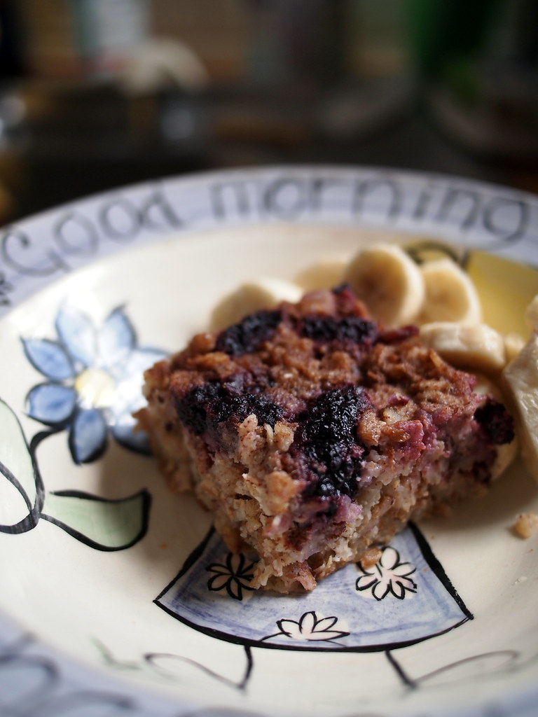 Mulberry baked oats