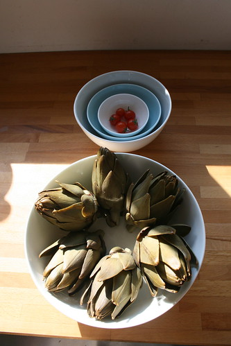 Artichokes by the james kitchen
