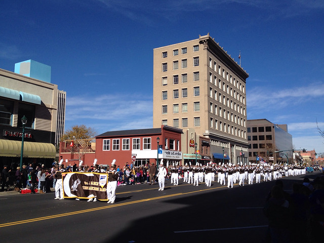 Palmer High School Marching Band In Downtown Colorado Springs