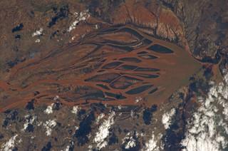 In Madagascar, a river creates an astounding web of colors
